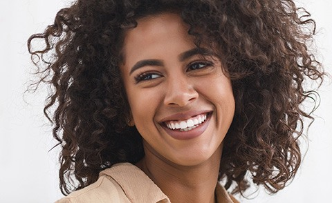Woman with gorgeous smile