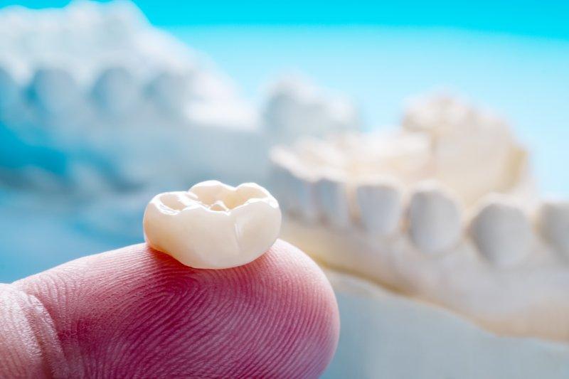 closeup of dental crown